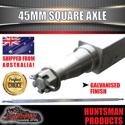 AU155 • Buy GALVANISED TRAILER AXLE 45MM SQUARE,75 .  1905MM. 1400Kg RATED. BOAT TRAILER