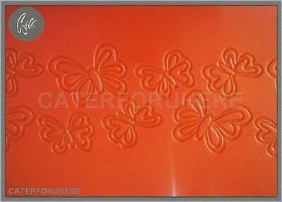 £4.95 • Buy 29.5x21cm BUTTERFLY BUTTERFLIES FONDANT EMBOSSING SILICONE MAT IMPRINT CUP CAKE