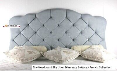 Zoe Headboard Linen All Sizes & Colours Esupasaver Huge Sale - French Collection • 89£