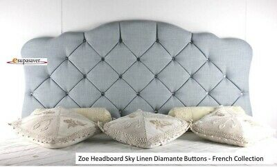 Zoe Headboard Linen All Sizes & Colours Esupasaver Huge Sale - French Collection • 69£