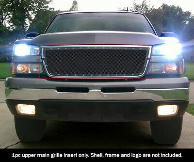 $80.99 • Buy Fits 2006 Chevy Silverado 1500/05-06 2500/3500 Rivet Black Mesh Grille Insert