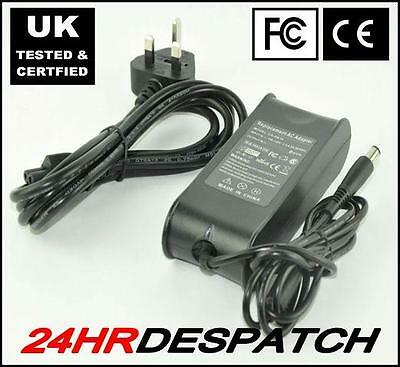 Dell Studio 1537 1555 1735 Laptop AC Adapter Charger With 3 Pin UK AC Plug Lead • 15.09£