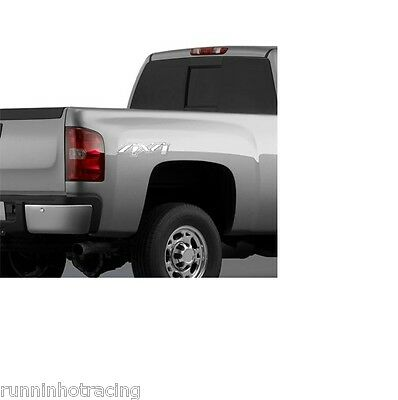 $25 • Buy 20986187 OEM (2) Chrome CHEVROLET GMC 4X4 Decals SILVERADO SIERRA 07-13 Cadillac