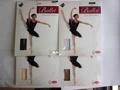Girls Full Foot Ballet Tights By Silky Pink Black White & Tan Various Sizes • 5.08£
