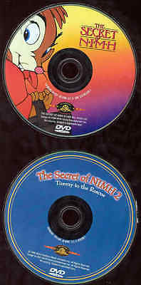 Secret Of Nimh 1 & 2 DVD Cartoons Timmy To The Rescue 2 Discs MGM Kids NO CASES • 5.11£