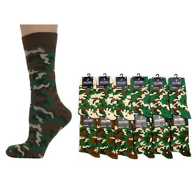 £1.85 • Buy CAMO/CAMOUFLAGE Mens/Unisex Cotton-Rich Socks 6-11, Army/khaki/military/punk