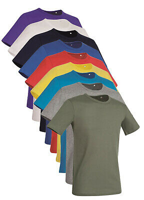 Stedman Plain No Logo 100% Cotton Slim Fit T-Shirt Tee Shirt Tshirt • 5.99£