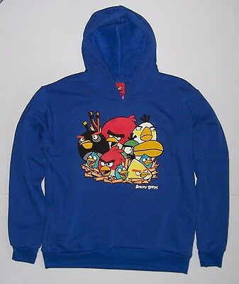 £14.37 • Buy Angry Birds Boys Blue Pullover Hoodie Various Sizes New With Tag!