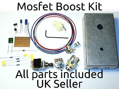 $ CDN32.64 • Buy SHO Clone Guitar Pedal Kit Mosfet Boost Drilled Case Pots Knobs Footswitch  UK