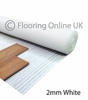60m2 - 2mm Acoustic Comfort White Underlay - Wood / Laminate Flooring - Cheap • 24.70£