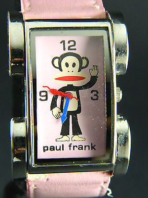 Paul Frank Ladies  Watch/ Pink Face& Band/silver Tone Bezel • 29.37£