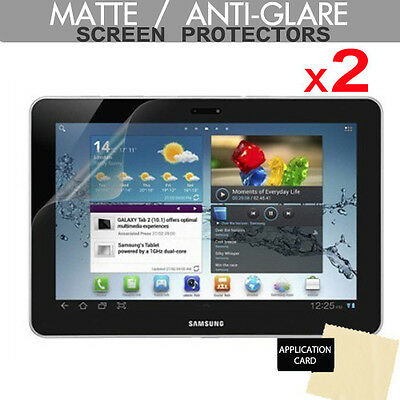 £2.95 • Buy 2x ANTI-GLARE MATTE Screen Protector Guards For Samsung Galaxy Tab 2 10.1 P5100