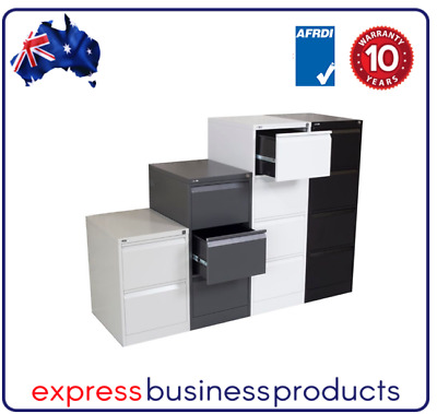 AU249 • Buy 3 Drawer Steel Filing Cabinet - 4 Colours Available, Please Specify When Ordered