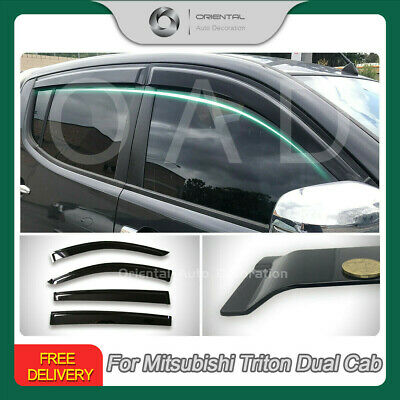 AU55.80 • Buy Injection Weather Shield Weathershields For Triton ML MN Dual Cab 06-15 4pcs S