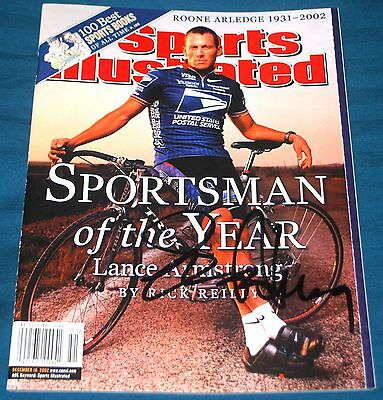 £290.88 • Buy Lance Armstrong Autographed Signed Authentic Sports Illustrated No Label USPS C
