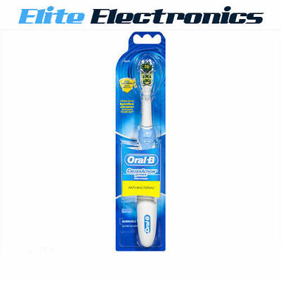 AU18.85 • Buy Oral-b Crossaction Anti-bacterial Clean Battery Powered Toothbrush +1 Brush Head