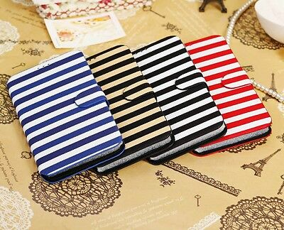 PU Leather Case Cover Stands Samsung Galaxy Mega 6.3 Inch I9200+2 Free Protector • 21.10AU