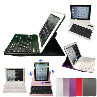 £17.95 • Buy 360 Rotating PU Leather Bluetooth Wireless Keyboard Case Cover For Apple IPad 2