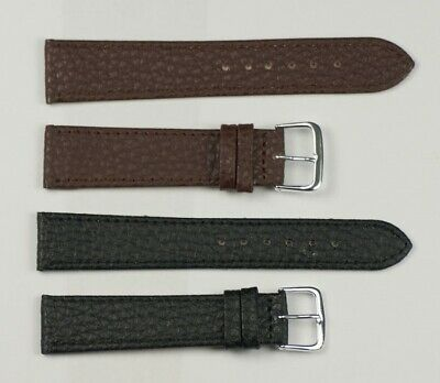 £3.95 • Buy Buffalo Grained Leather Watch Strap Replacement For Formal Black/brown 12mm-20mm