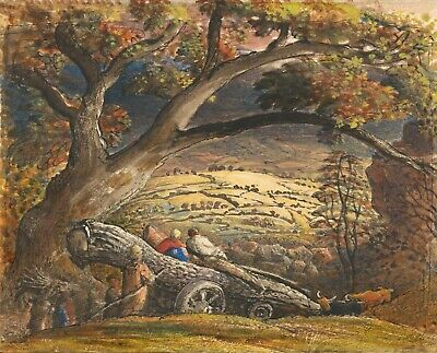 Samuel Palmer :  The Timber Wain  (1833-1834) — Giclee Fine Art Print • 37.10£