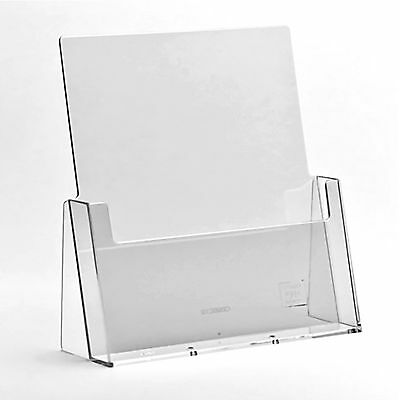 A6 DL A5 & A4 Leaflet Holders Counter Display Stand Flyer Menu Retail Dispensers • 7.62£