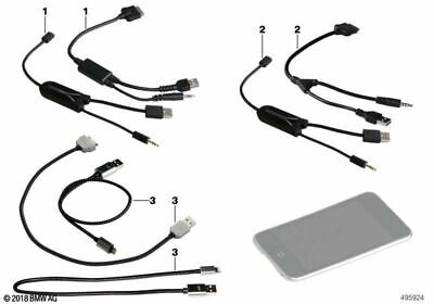 BMW Genuine In-Car IPod/iPhone Audio USB+AUX Adapter Cable Lead 61122338491 • 49£