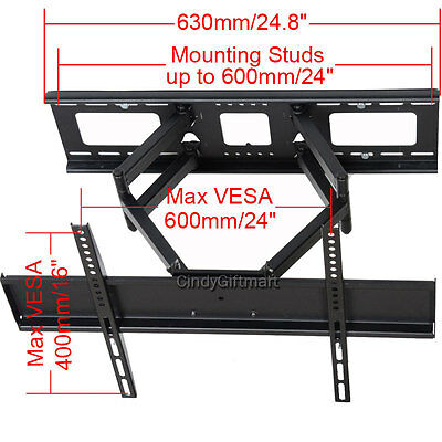 AU38.48 • Buy Full Motion TV Wall Mount For Sony Toshiba Samsung 39 40 46 47 50 55 60  LED AW2