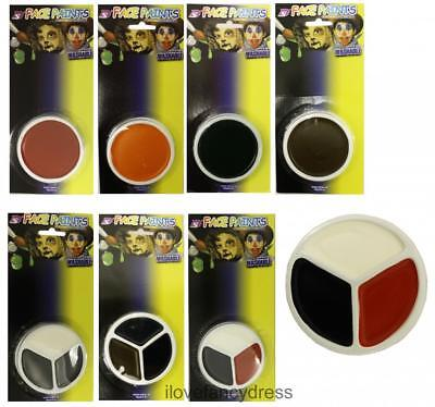 £3.99 • Buy Face Paint Halloween Fancy Dress Cosmetic Stage Body Makeup 9 Colours Facepaint