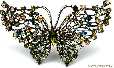 4 Napkin Rings New Beautiful Jewel Encrusted Butterfly Design Gem Stones Dining • 34.19£