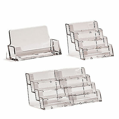 Business Card Holders Acrylic Display Stand Retail Counter & Wall Dispensers • 5.34£