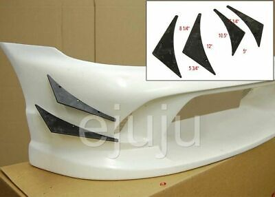 $9.98 • Buy Urethane Front Bumper Lip Body Kit Canard Splitter Racing Sport Style Diffuser