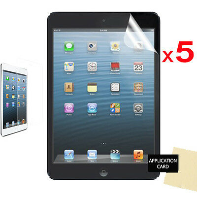 5 Pack Of Apple IPad Mini 2 With Retina Display CLEAR LCD Screen Protectors • 3.49£