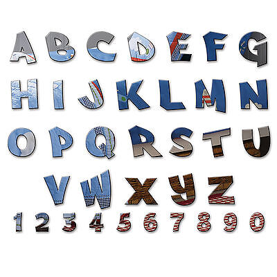 Acrylic Mirror Alphabet Letters Name Plaques For Childrens Bedroom Door Or Wall • 1.07£