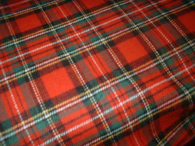Perfect Christmas Red 100%pure Brushed Cotton Tartan Royal Stewart Ultrasoft • 4.70£