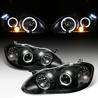 $153 • Buy For 03-08 Toyota Corolla Black Halo LED Projector Head Light Lamp LEFT+RIGHT NEW