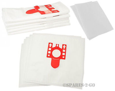 10 X Miele S4210 S4511 S510 S372 S4211 S4560 S511 FJM Dust Bags & 2 Filters • 12.49£