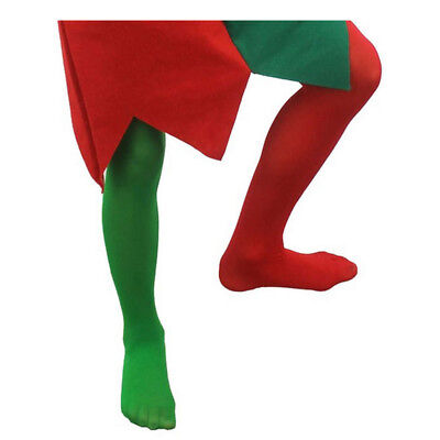 Child Elf Tights Boys Girls Christmas Costume Accessory Green Red 4/14 Years • 2.49£