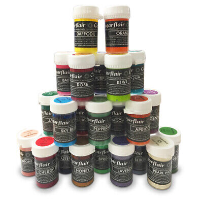 Sugarflair Pastel Food Colouring Paste Concentrated Gel 25g Icing Fondant • 4.35£