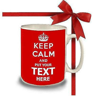 £11.99 • Buy  Keep Calm And Carry On Personalised With Any Text Gift Mug Cup Retro