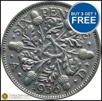 £3.49 • Buy 1920 To 1936 George V Lucky Silver Sixpences Choice Of Year / Date