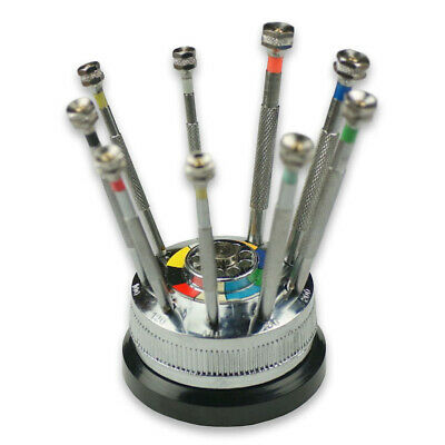 £14.95 • Buy Watchmakers 9 Screwdrivers Set, French Type With Revolving Base SPARE BLADES New