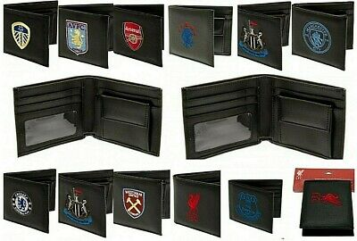Embroidered Crest Leather Football Club Sports Team Money Wallet Coin Purse • 11.40£