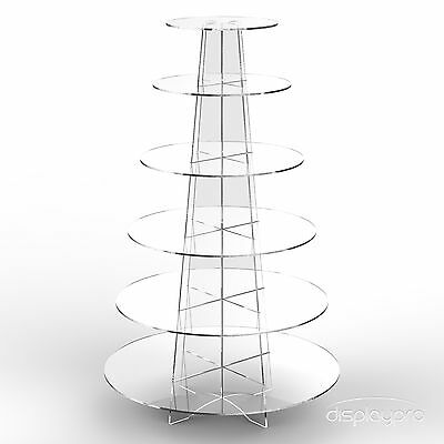 £27.34 • Buy Displaypro 6 Tier Acrylic Cupcake Display Stand Cup Cake Party Holder - Round