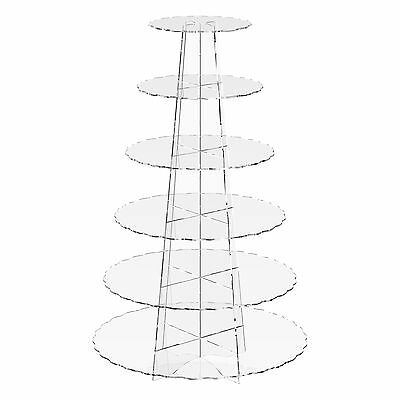 £26.36 • Buy Cup Cake Stand Acrylic 6 Tier Cupcake Clear Display Riser- Scallop By Displaypro
