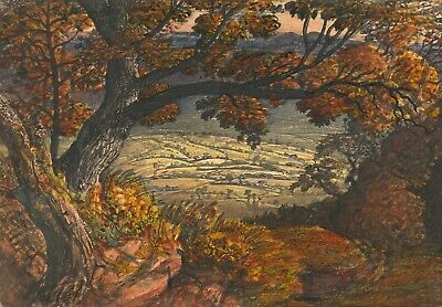 Samuel Palmer :  The Weald Of Kent  (1833-1834) — Giclee Fine Art Print • 37.10£