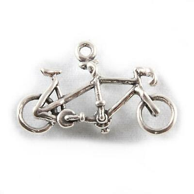 Tandem Bike Charm - 3D Sterling Silver Charms - Bicycle • 9.45£