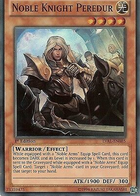 YU-GI-OH: NOBLE KNIGHT PEREDUR - SUPER RARE - LVAL-EN085 - 1st EDITION • 0.99£