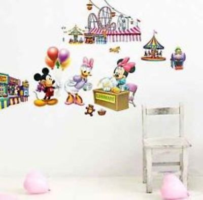 Mickey Mouse & Minnie Mouse Nursery Childrens Wall Sticker Wall Art • 4.53£