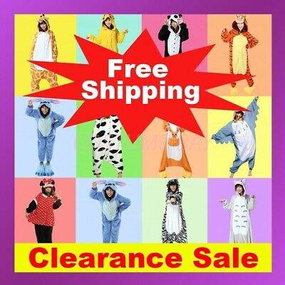 AU26.95 • Buy Animal Onesie Adult Kids Kigurumi Cosplay Costume Pyjamas Pajamas Sleepwear AU