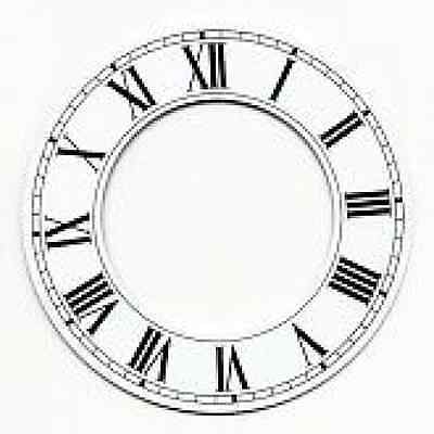 £14.99 • Buy White Chapter Ring Clock Face Or Dial 152mm Dia Roman Black Numerals Cr6w